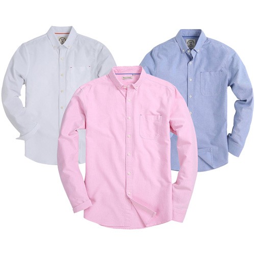 Men's Solid Oxford Button