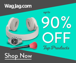 Save up to 90% on top products at WagJag.