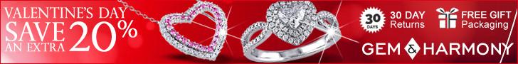 Valentines Day 20% Off - Gem & Harmony
