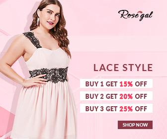 Lace Style Buy 1 Get 15% Off, Buy 2 Get 20% Off, Buy 3 Get 25% Off