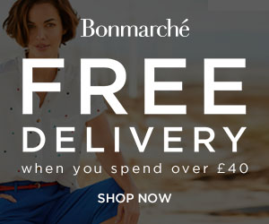 Free Delivery when you spend over £40 at Bonmarché. Shop Now!