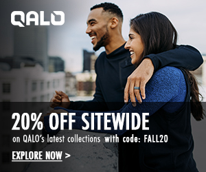 Get 20% Off Sitewide at QALO!