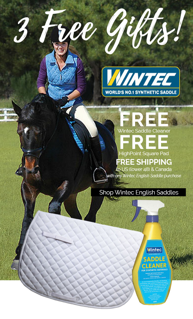 Wintec Saddles Promotion - 3 FREE Gifts With Every Wintec English Saddle Purchase!