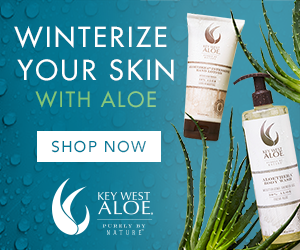 Winterize Your Skin with Aloethera products from Key West Aloe. Shop Now