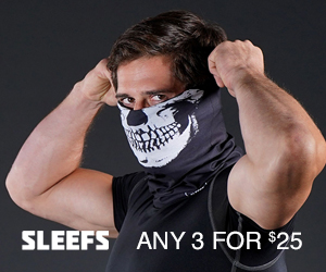 Get 3 Face Cover Gaiters for $25 at Sleefs.com