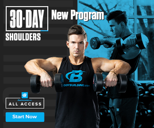 New Program! 30 Day Shoulders With Abel Albonetti Now Available on Bodybuilding.com All-Access!