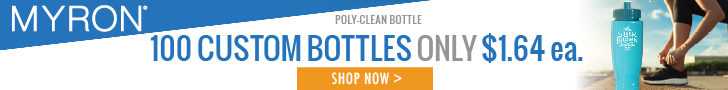 100 Custom Water Bottles - only $1.64 each