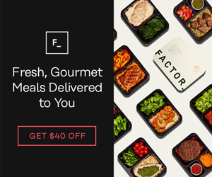 Factor - Fresh, Gourmet Meals Delivered to You (300x250)