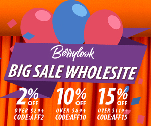 Whole Site 2%/10%/15% Off at Berrylook.com!!!