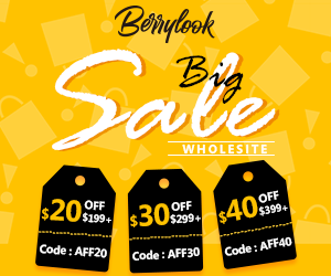 Whole site 20%/30%/40% OFF At Berrylook! Buy Now!