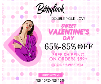 Berrylook.com Sweet Valentine's Day FREE shipping on orders $59+ With CODE:SWEET214