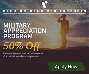 50% off for Veterans!
