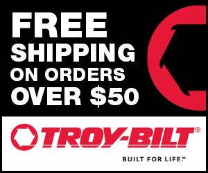 TroyBilt.com - Free Shipping on Orders $50 and Over; 300x250
