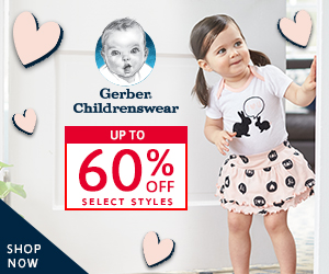 Shop gerberchildrenswear.com Today!