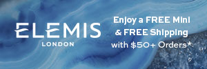 Enjoy a FREE Mini & FREE Shipping with $50+ Orders at Elemis!